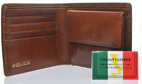 POLICE 財布 二つ折り MONOGRAMⅡ  ブラウンpolice-wallet-monogram2