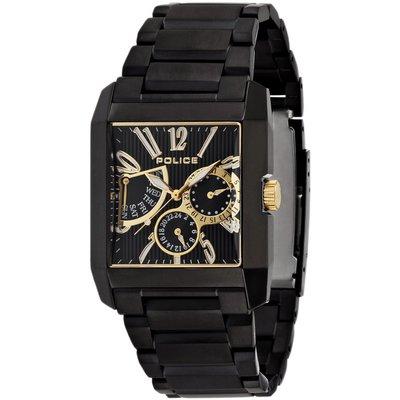 POLICE(ポリス)時計 キングスアベニュー KING'S AVENUE ブラック/ゴールド&ホワイト【13789MSB-02MA】