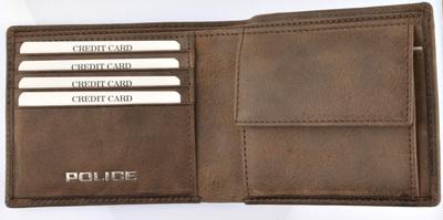 POLICE   財布 二つ折り EDGE ダークブラウン【PA-58000-29】