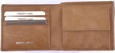 POLICE   財布 二つ折り EDGE キャメル【PA-58000-25】