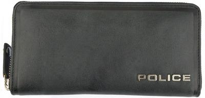 POLICE 長財布 EDGE ファスナー付 ブラック【PA-58002-10】