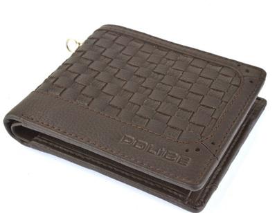 ポリス 財布 二つ折り  MESH  ブラウン【PA-57001-29】