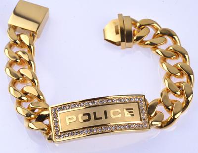 POLICE(ポリス)ブレスレット ゴールド LOWRIGER【25143BSG01】 市原 隼人モデル