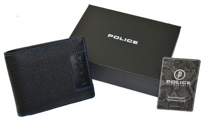 POLICE   財布 二つ折り ADVANCE  ブラック【PA-58202-10】