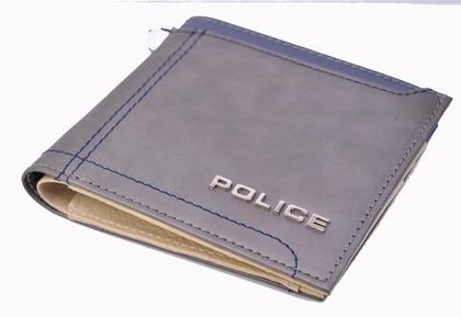 POLICE メンズ 二つ折り財布 AXIS  グレー【PA-58300-60】