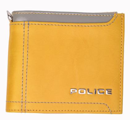 POLICE メンズ 二つ折り財布 AXIS  イエロー【PA-58300-80】