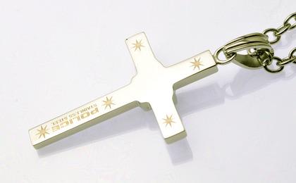 POLICE(ポリス)ネックレス 十字架 TREASURE【25523PSS01】