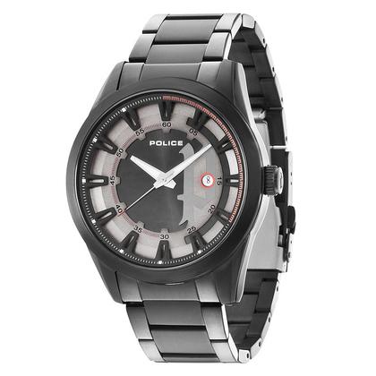 POLICE(ポリス)時計 SQUADRONスクアドロン グレー&ブラック【14380JSB-61M】