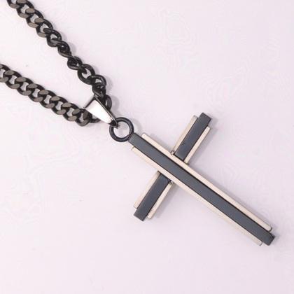 POLICE(ポリス)ネックレス 十字架GLAZE【25695PSB01】市原 隼人モデル