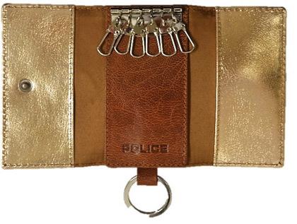 police-wallet_PA-59303-25 (3)POLICE(ポリス)BASICⅣ キーケース キャメル【PA-59303-25】