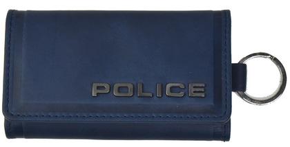 police-wallet_edge-58003-50POLICE(ポリス)EDGE キーケース  ネイビー【PA-58003-50】