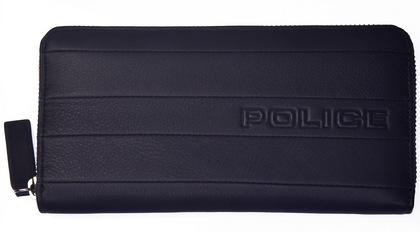 ポリス 長財布 BICOLORE ファスナー付 ネイビー【PA-59903-50】police-wallet_bicolore _3 (1).JPG