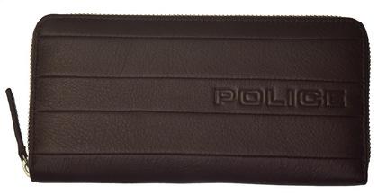 ポリス 長財布 BICOLORE ファスナー ブラウン【PA-59903-29】police-wallet_bicolore _3 (4).JPG