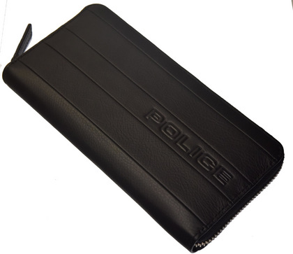 POLICE 長財布 BICOLORE ファスナー ブラック【PA-59903-10】police-wallet_bicolore _3 (7).JPG