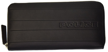POLICE 長財布 BICOLORE ファスナー ブラック【PA-59903-10】police-wallet_bicolore _3 (8).JPG