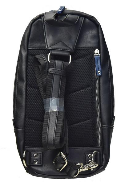POLICE(ポリス) ボディバッグ タテ URBANO ブラック/ブルー【PA-62000-10】police_bag_urbano (10).JPG