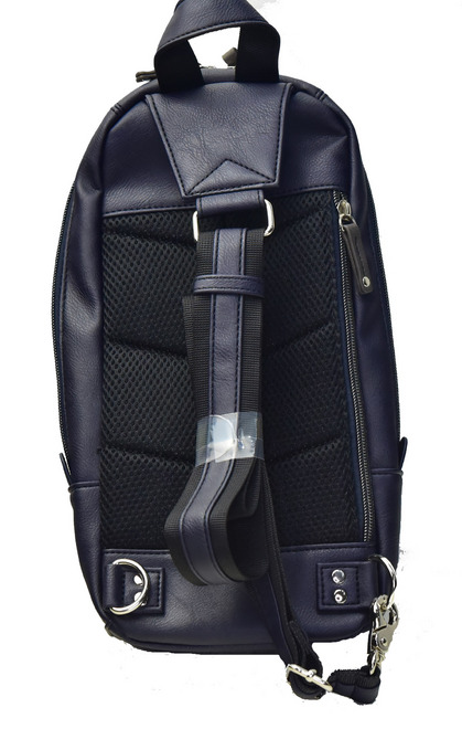 POLICE(ポリス) ボディバッグ タテ URBANO ブラック/ブルー【PA-62000-10】police_bag_urbano (2).JPG
