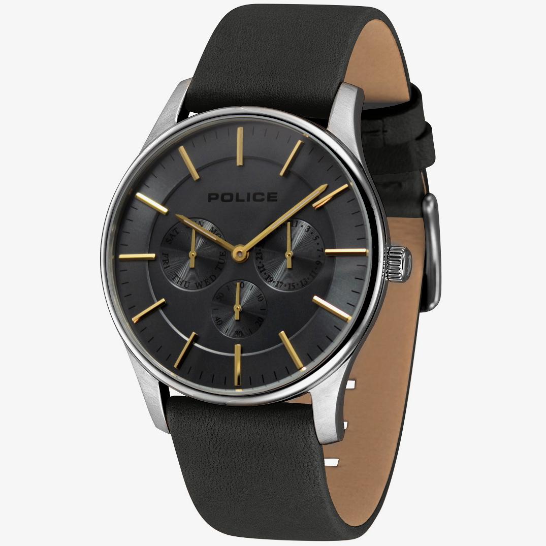 POLICE(ポリス)腕時計 COURTESYコーテシー グレー/イエローゴールド【14701JS-61】