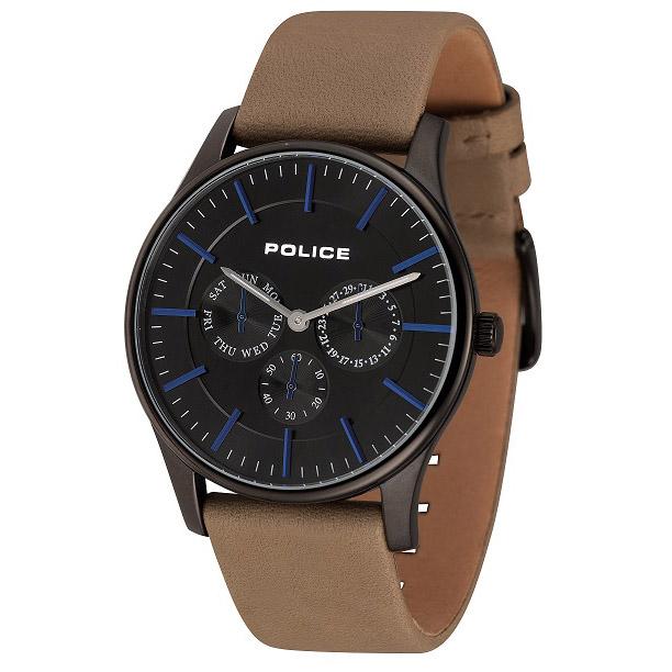 POLICE(ポリス)時計 COURTESYコーテシー ブラック/ブルー【14701JSB-02】