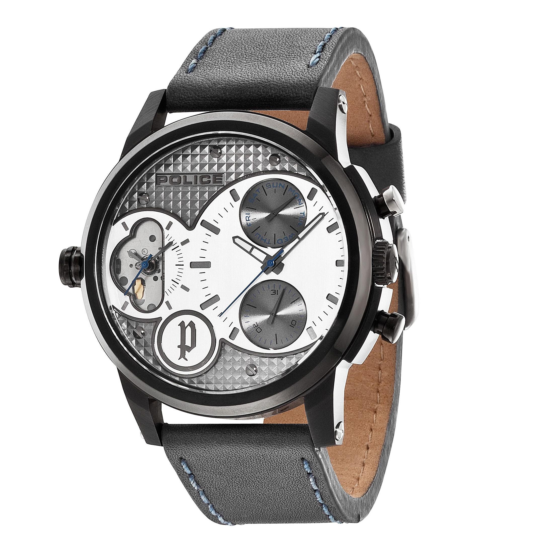 ポリス腕時計 DIAMONDBACK ダイアモンドバック グレー&シルバー【14376JSB-04】