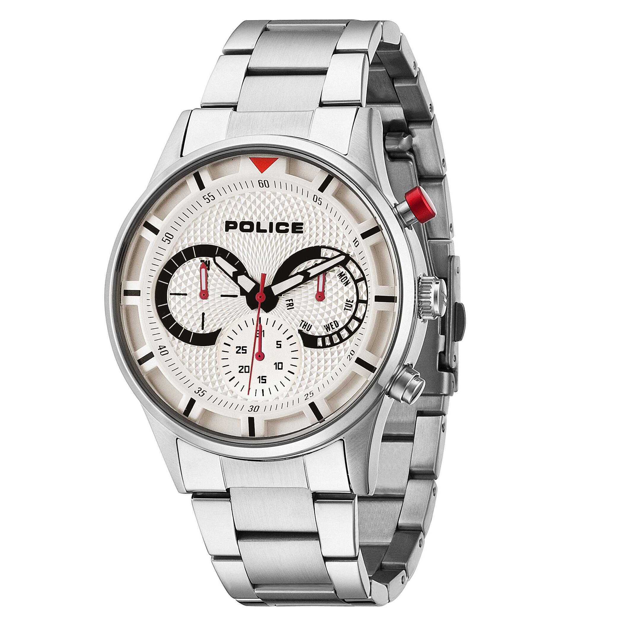 POLICE(ポリス)時計 DRIVERドライバー ホワイト【14383JS-04M】