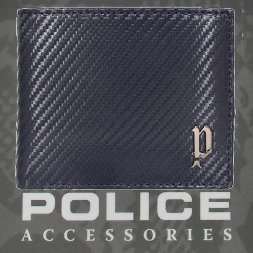 POLICE   財布 二つ折り   LUCENTE  ネイビー【PA-70200-50】