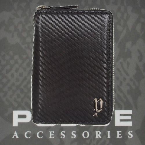 財布 メンズ ポリス 二つ折り ファスナー LUCENTE   ブラック【PA-70202-10】