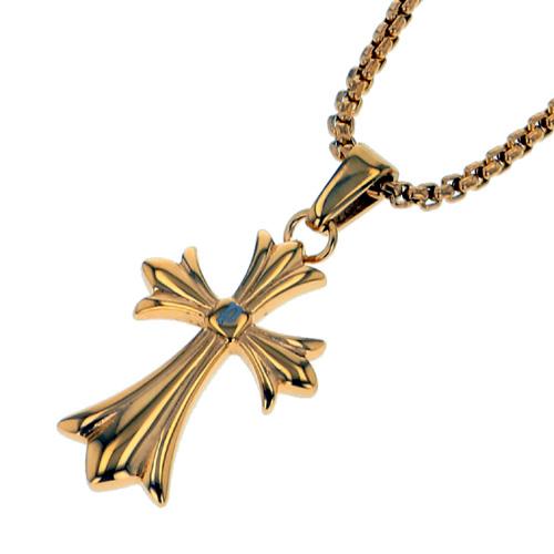 ポリス ネックレス 十字架 GRACEゴールド(ミニサイズ)(小)【26375PSG02】