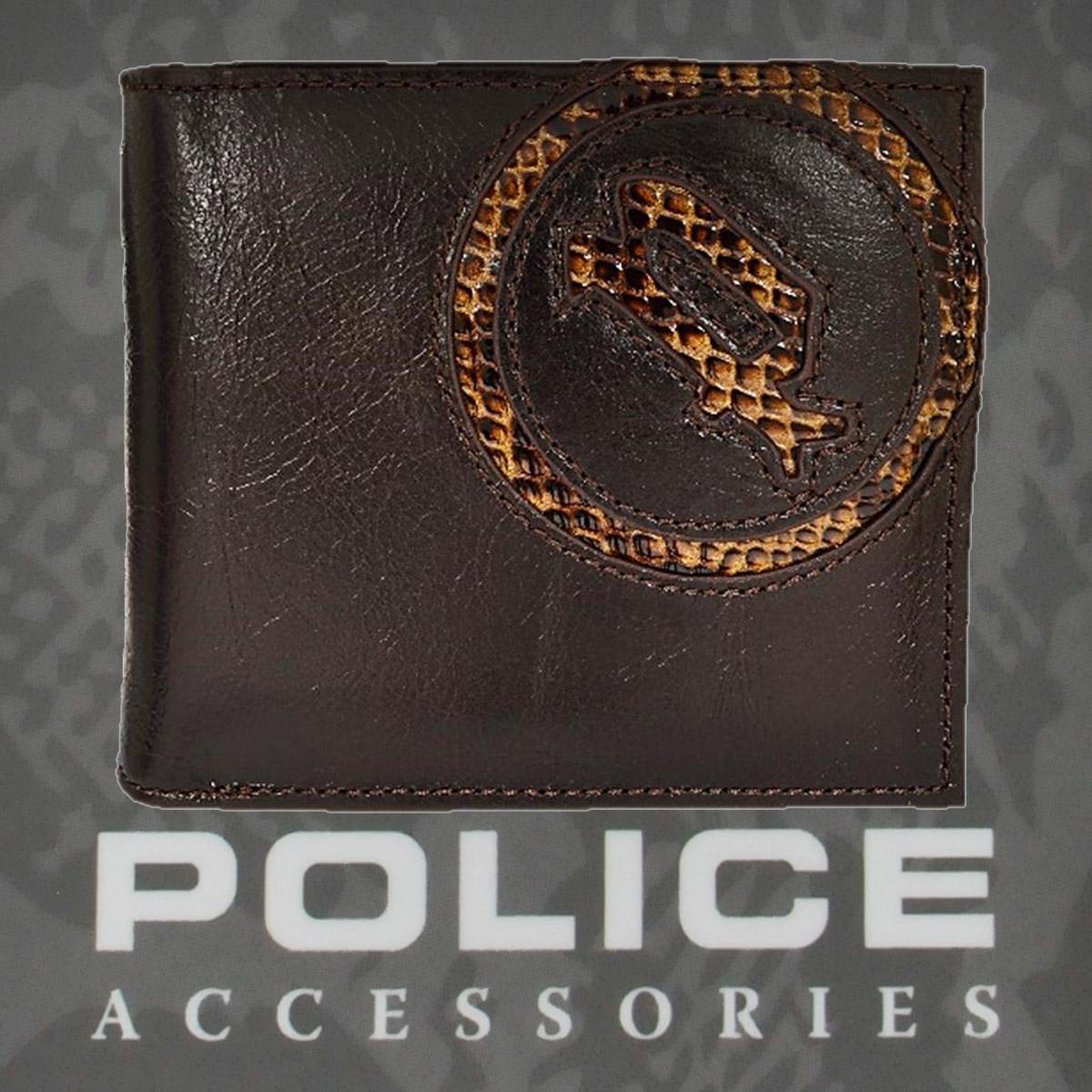 POLICE   財布 二つ折り EVEN ブラウン【PA-55502-29】