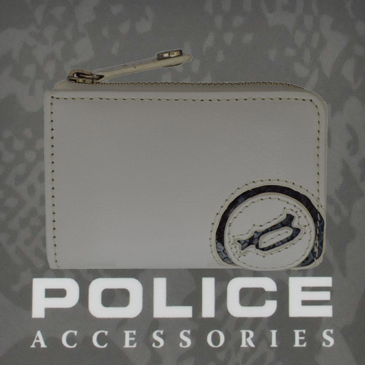 POLICE(ポリス)EVEN コインパース ホワイト【PA-55509-40】