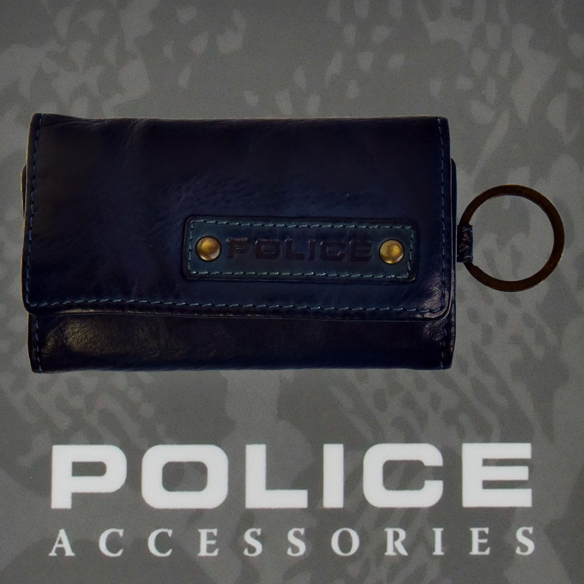 POLICE LAVARE  キーケース  ネイビー【PA-59600-50】