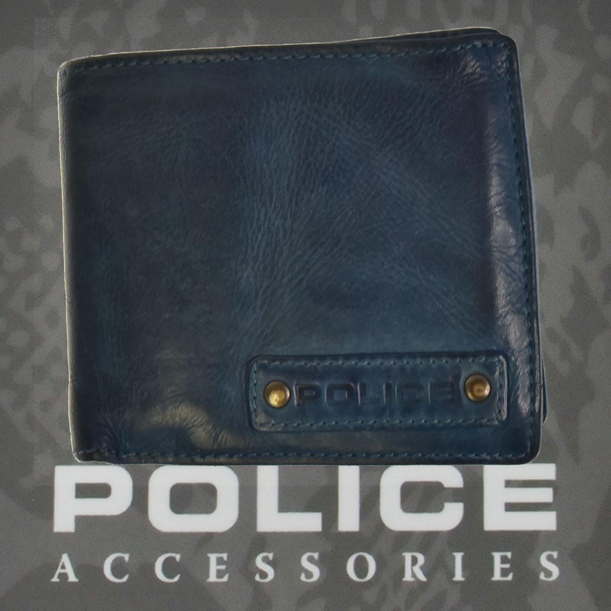 POLICE   財布 二つ折り  LAVARE  ネイビー【PA-59601-50】