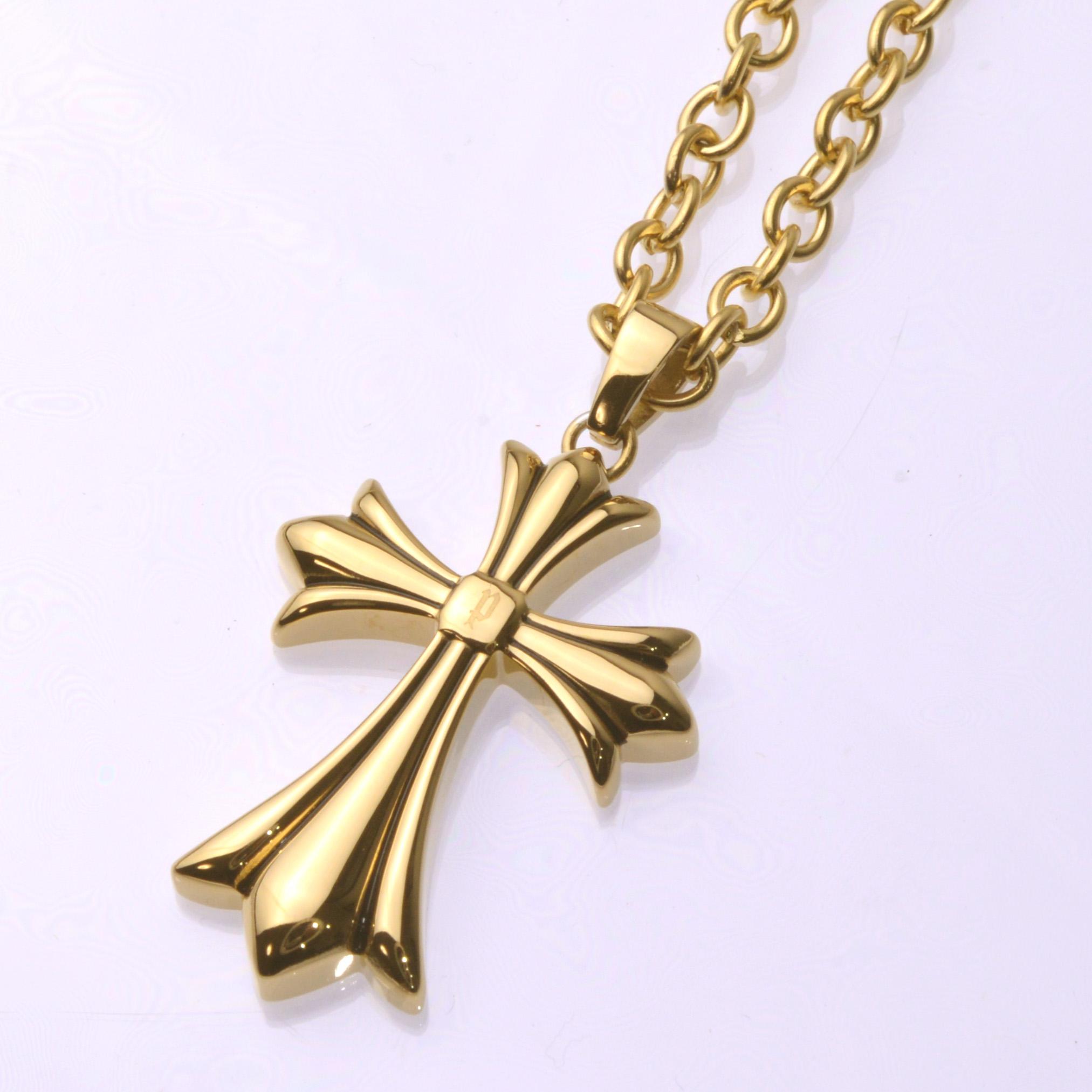ポリス ネックレス 十字架 GRACEゴールド 【25154PSG02】