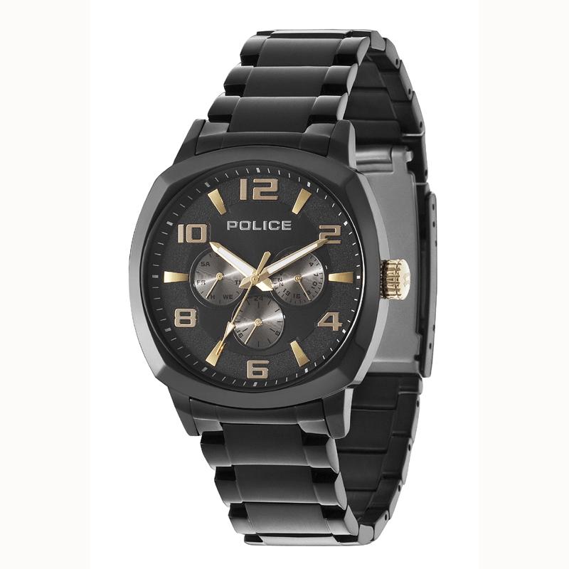 POLICE(ポリス)時計 SANMARINOサンマリノ ブラック/ゴールド【14582JSB-02M】