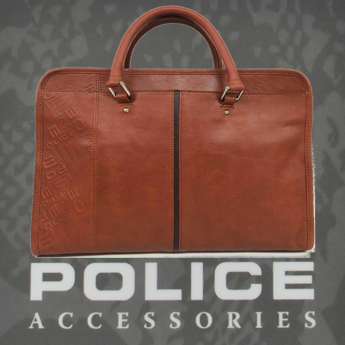 POLICE(ポリス)ビジネスバッグ  LASER ブラウン【PA-61000-25】