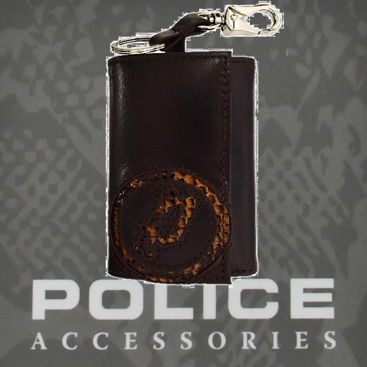 POLICE(ポリス)EVEN キーホルダー ブラウン【PA-55500-29】