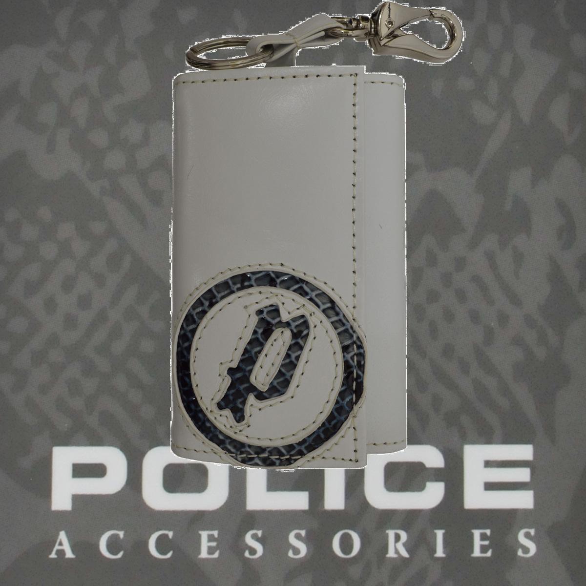 POLICE(ポリス)EVEN キーホルダー ホワイト【PA-55500-40】