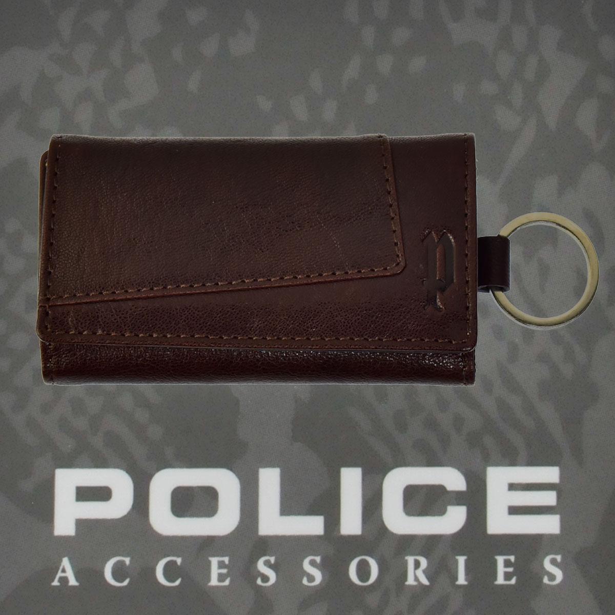 POLICE(ポリス)TIPICO キーケース ブラウン【PA-59700-29】