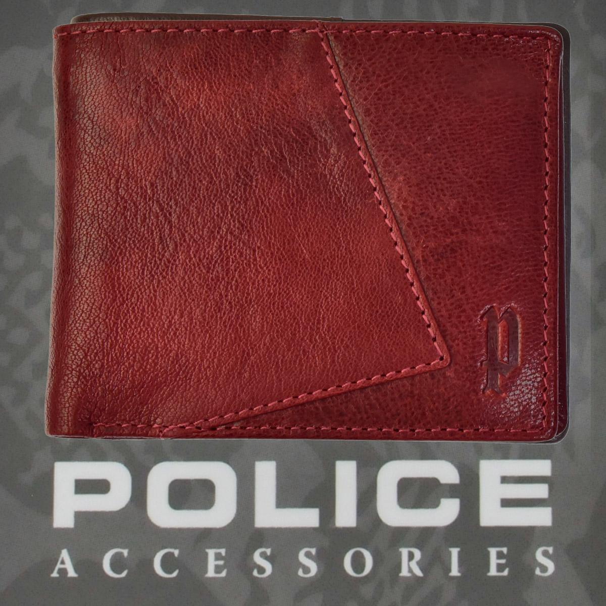 POLICE   財布 二つ折り  TIPICO  ワイン【PA-59701-70】