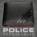 POLICE(ポリス)AXELⅢ 二つ折り財布 ブラック【PA-56701-10】