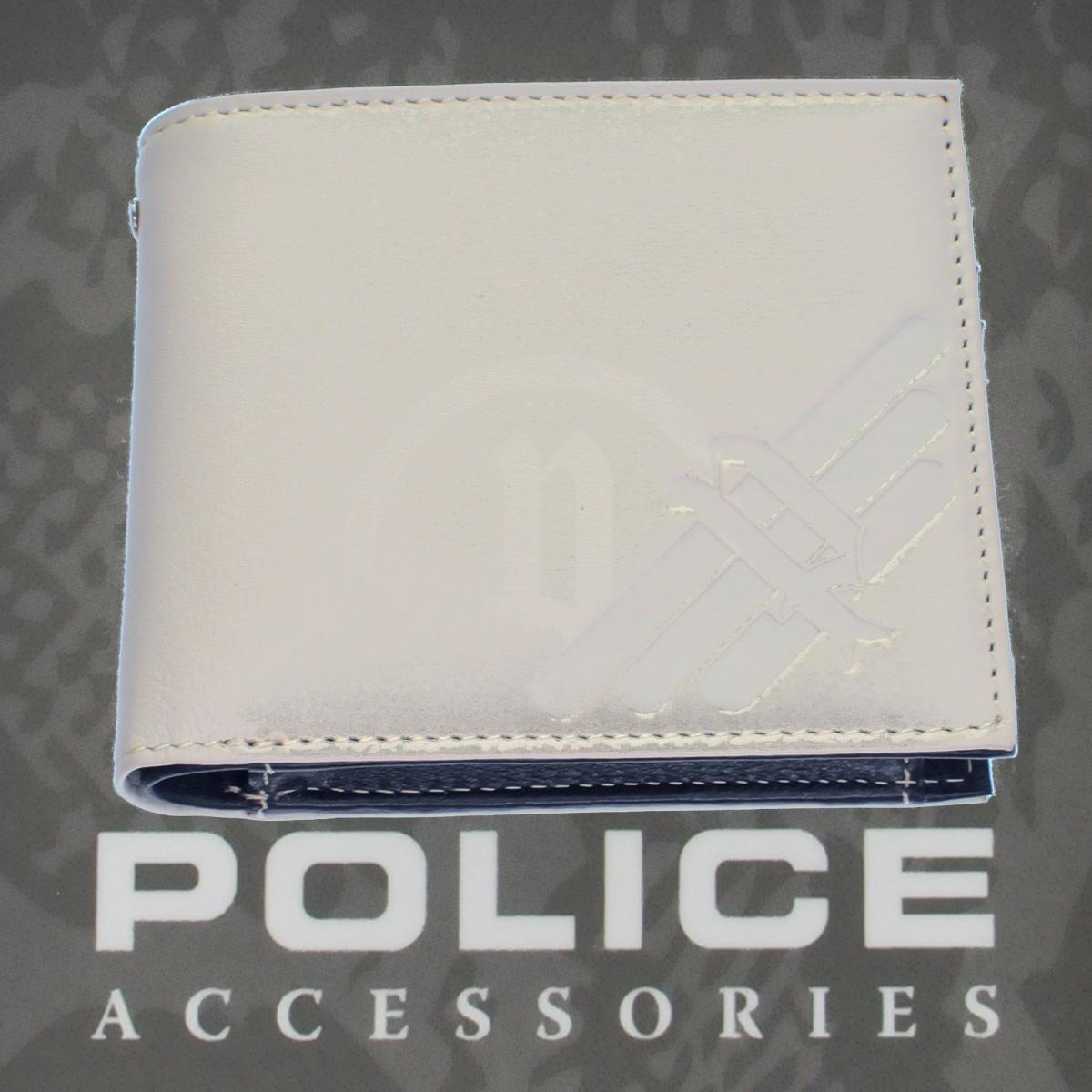 POLICE(ポリス)AXELⅢ 二つ折り財布 アイボリー【PA-56701-49】