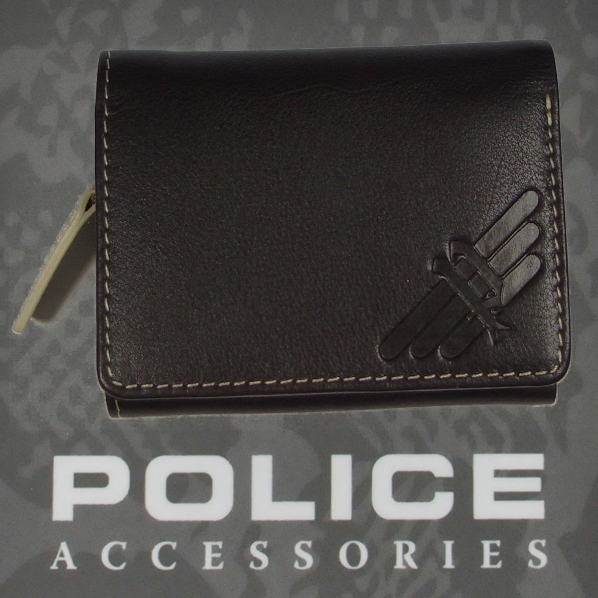 POLICE(ポリス)AXELⅢ 三つ折り財布 ブラウン【PA-56704-29】