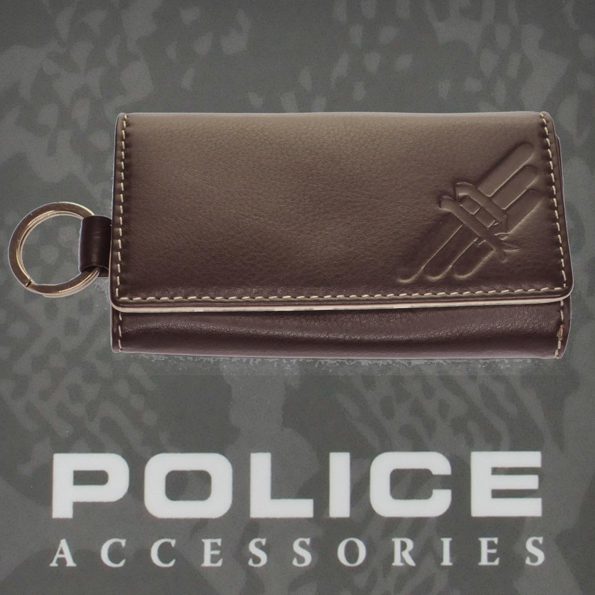 POLICE(ポリス)AXELⅢ キーケース ブラウン【PA-56700-29】