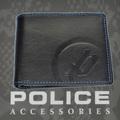 ポリス 財布 二つ折り BASICⅡ  ブラック/ブルー【PA-55602-15】