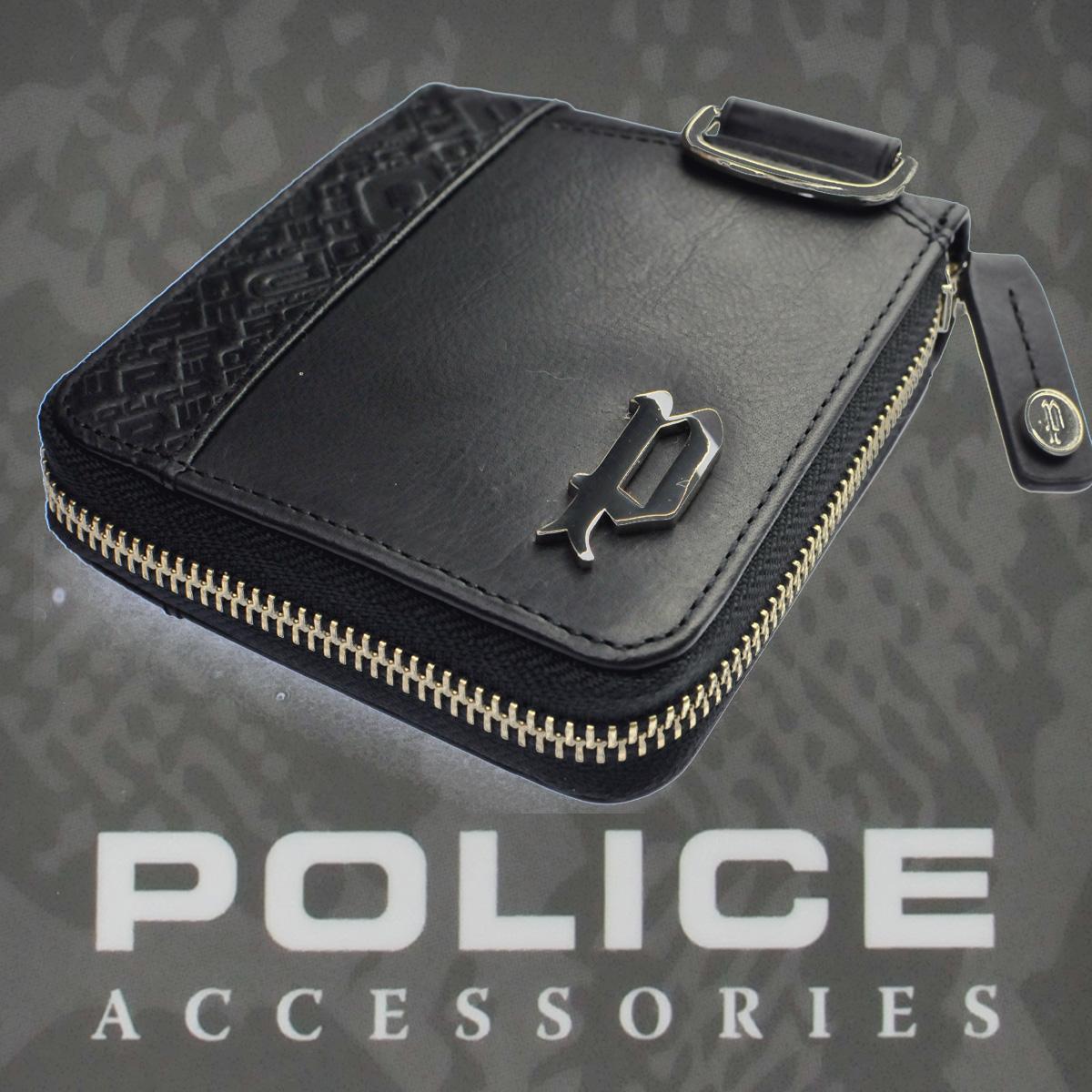 POLICE 二つ折り財布 CIRCUIT  ブラック【PA-56102-10】