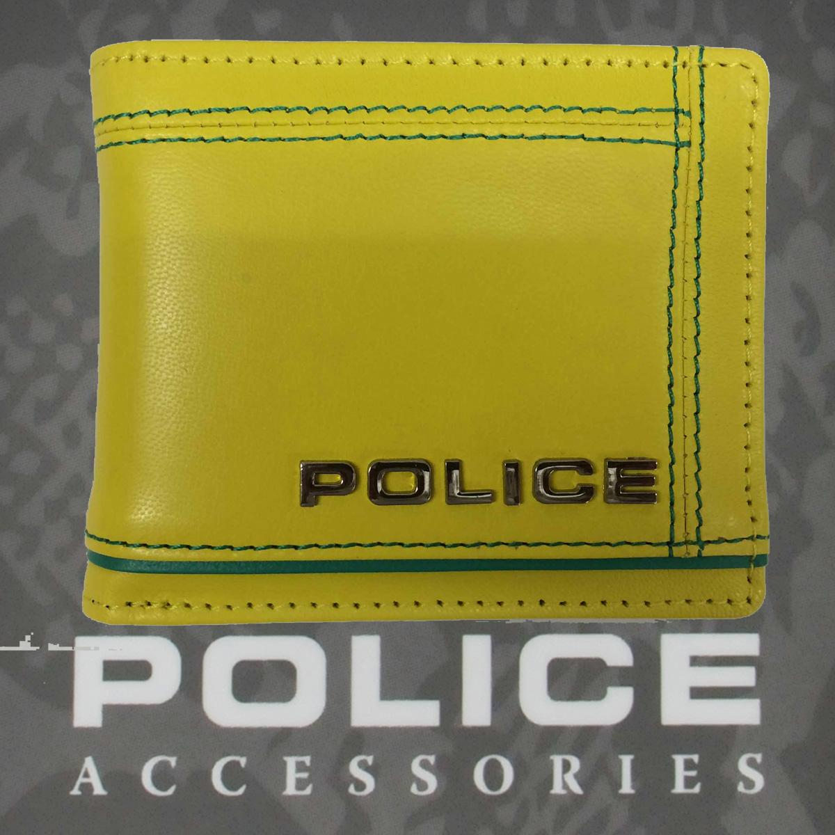 POLICE メンズ 二つ折り財布 COLORS  イエロー【PA-58400-80】