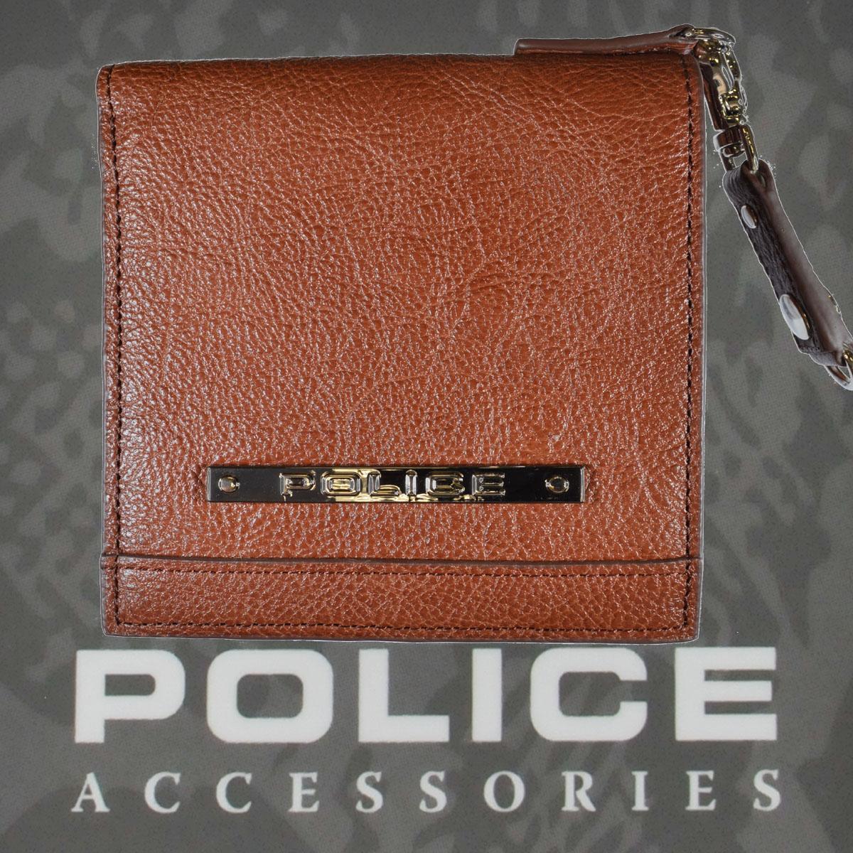 POLICE   財布 二つ折り MODEST ブラウン【PA-58500-29】