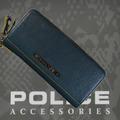 財布 メンズ ポリス ファスナー MODEST ブルー【PA-58502-50】