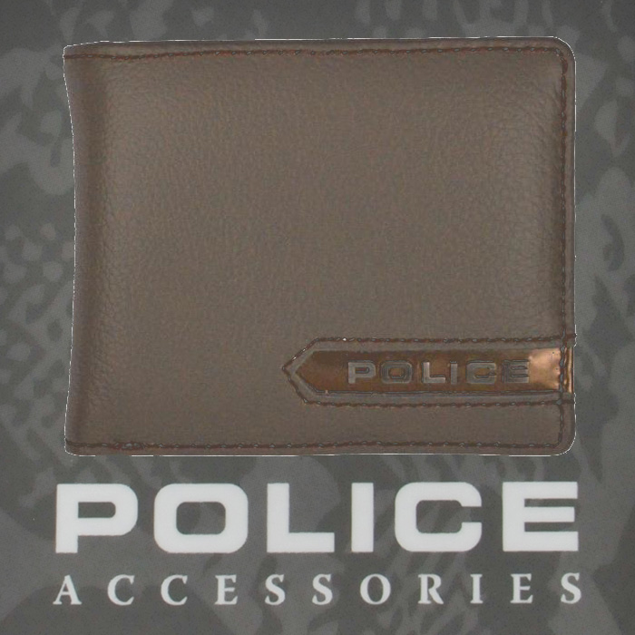 POLICE   財布 二つ折り METALLIC グレイ【PA-56900-60】
