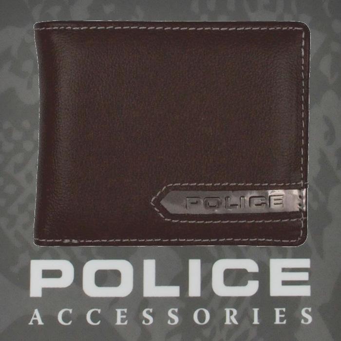 POLICE   財布 二つ折り METALLIC ブラウン【PA-56900-29】
